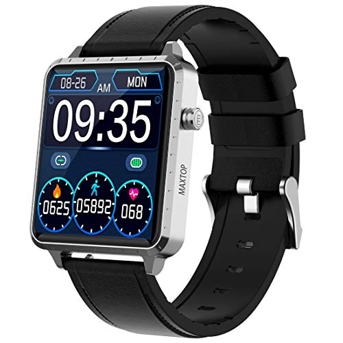 Smart Watch Compatible iPhone and Android Phones, Fitness Tracker with Heart Rate Sleep Blood Pressure Monitor, IP67 Waterproof Digital Watch, Step Counter Sport Smartwatch for Women Men(Silver)