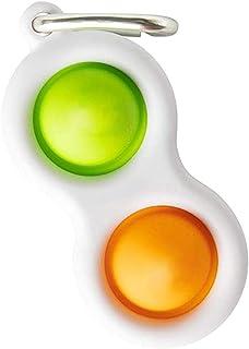 Fat Brain Toys Simpl Dimpl Hobe Dimple Sensory Toys Set Stress Relief Hand Toys Fidget Toy Set/Green+Orange