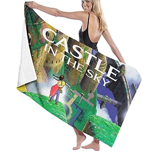 xiangli Castle in The Sky Toallas de impresión de moda Toallas para niños/hombres/mujeres niños Toallas de baño para el baño de playa y piscina - Juego de baño al aire libre