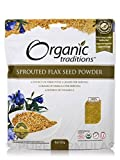 Organic Sprouted Flax Seed Powder 8 Ounce (227 Grams) Pkg