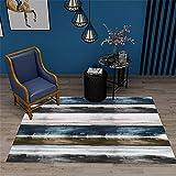 Xiaosua Antideslizante Alfombra Gris Patrón de Vendimia Rayado borroso de la Alfombra Gris de salón con alfombras de alfombras rumoreadas alfombras 160x230cm Alfombra habitacion 5ft 3''X7ft 6.6''