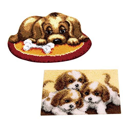 kowaku 2 Unids/Set Kits de Ganchos de Pestillo para DIY Alfombra Alfombra Animales Cachorros Perros con