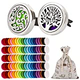 OOTSR 2Pcs Car Aromatherapy Essential Oil Diffuser, Stainless Steel Air Freshener Vent Clip