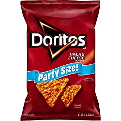 Doritos, Nacho Cheese Flavored Tortilla Chips Party Size, 15 oz