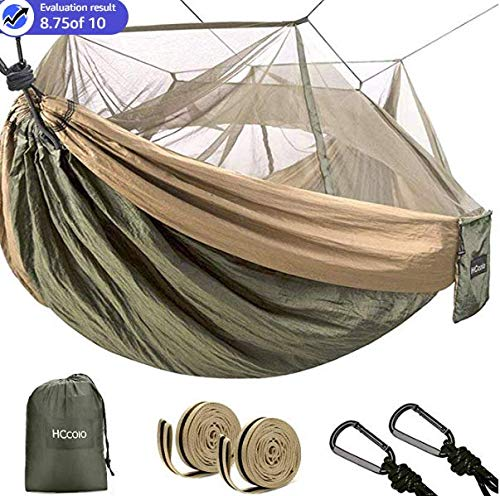 syntrific Hammock with Mosquito Net-2020 Upgraded -2 Person Camping Ultralight Hammock Tent Bundle with Tree Straps,Carabiners- Portable Hammocks for Indoor, Outdoor, Hiking, Camping, Backpacking