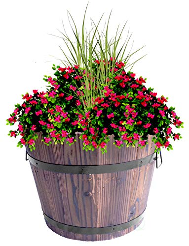 Extra Large Wooden Whiskey Barrel Planter, 18' Dia x 14' High