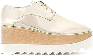 Stella McCartney Women's 363997W02S08102 Gold Polyurethane Lace-Up Shoes