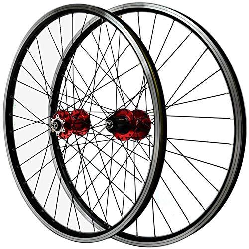 TYXTYX Ejes de liberación rápida Accesorio para Bicicleta MTB Juego de Ruedas para Bicicleta 26'27.5' 29'Freno de llanta de Disco Bicicleta Rueda de Ciclismo Llanta de aleación de Doble Pared Lib