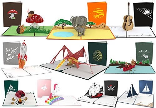 Lovepop Awesome Pop Up Card 10 Pack, 3D Cards, Greeting Cards, Birthday Cards