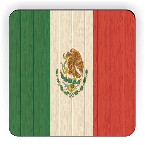 Rikki Knight Kühlschrankmagnet Mexiko-Flagge im Used-Erscheinungsbild, quadratisch