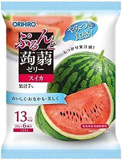 ◆オリヒロ ぷるんと蒟蒻ゼリーパウチ スイカ 20gX6個【6個セット】