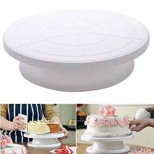ounona para tartas, giro Bar giratorio Soporte para tarta Plataforma Plato Giratorio para tarta Decoración Hornear