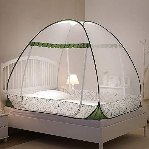Jjabc - Mosquitera portátil, para dormitorio, camping, exterior, fácil instalación, color verde