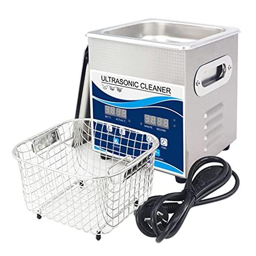 Máquina De Limpieza Ultrasónica 2L, Temporizador Digital + Calentamiento + Desgasificación Máquina De Limpieza De Acero Inoxidable, Desengrasante Industrial Y Limpiador De Piezas Metálicas