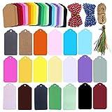 200 etiquetas de regalo 20 colores con cordón,etiquetas de papel, tarjetas de felicitación,etiquetas de árbol de deseos, tarjetas de lugar de nombre, etiquetas de precio, etiquetas de premios