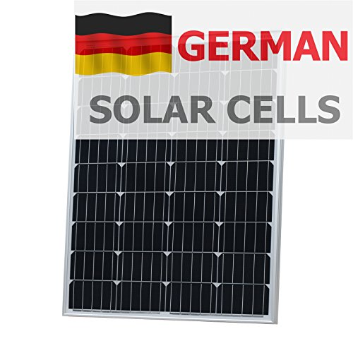 100 W fotónico Universo panel solar alemán células solares hechas de BOSCH, una autocaravana, caravana, caravana, barco, yate o para cualquier otro vehículo o aplicación marinos, o un desguarnecer chira en energía solar (100 Watt) sistema, optimizada para cargar 12 V (12 V) Batería