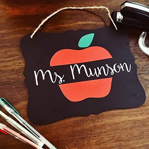 Custom Teacher Name Chalkboard | Personalized Classroom Decor | Teacher Sign | Teacher Appreciation | Graduation Gift | National Board Gift