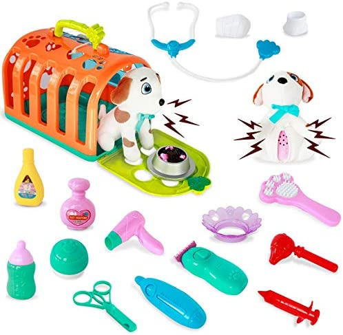 HISTOYE Vet Pet Set Veterinarian Doctor Kit for Kids Toy Dogs for Toddlers Pet Grooming with product image