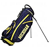 Team Golf NCAA Michigan Wolverines Fairway Golf Stand Bag, Lightweight, 14-way Top, Spring Action Stand, Insulated Cooler Pocket, Padded Strap, Umbrella Holder & Removable Rain Hood