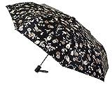 Funcionalidad y Elegancia se unen en Este Paraguas Vogue Abre y Cierra automático confeccionado con un Sofisticado satén Estampado de inspiración Japonesa. (Estampado Azul Marino Oscuro)