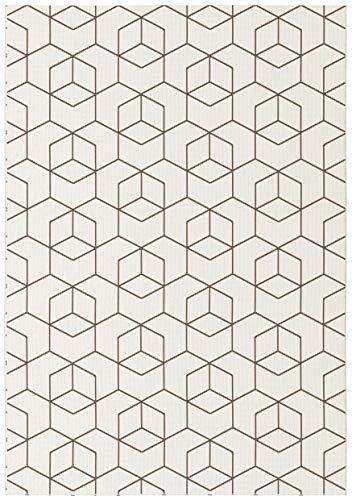 BALTA Tapis Design Graphique Essenza - Cubes 3D (160 x 230 cm, Crème - Cubes 3D)