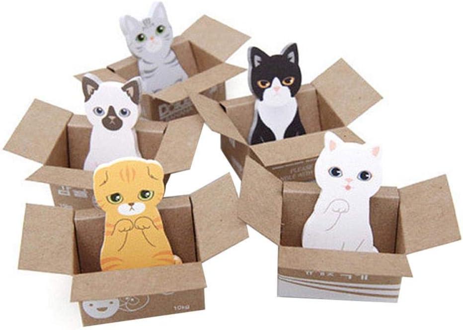 al azar Mini lindo Kawaii dibujos animados animales gato Panda Bloc de notas notas adhesivas cuaderno de notas papeler/ía papel de nota pegatinas /útiles escolares
