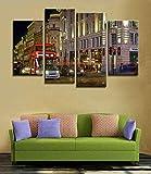 Blaesusky Impresiones Sobre Lienzo 4 Cuadros Modernos Salón Decoracion Enmarcado 120 * 80 Cm 4 Piezas Pinturas De Arte Moderno Spray Canvas Painting London Red City Canvas Imagen Londres Pinturas Al Ó