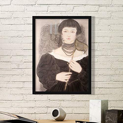 DIYthinker Masker Schoonheid Chinese Schilderij Eenvoudige Beeld Frame Kunst Prints Schilderijen Thuis Muursticker Gift