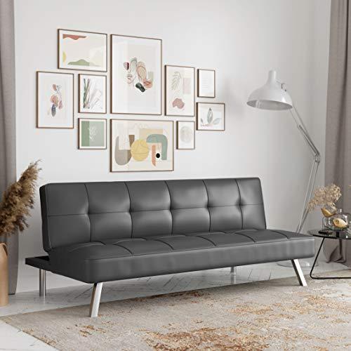Serta Rane Collection Sofabed, Full, Dark Gray