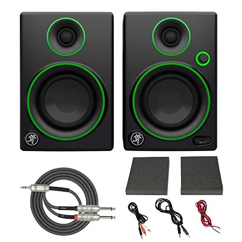 New Mackie CR3 3 Creative Reference Multimedia Monitors (Pair) with Breakout Cable