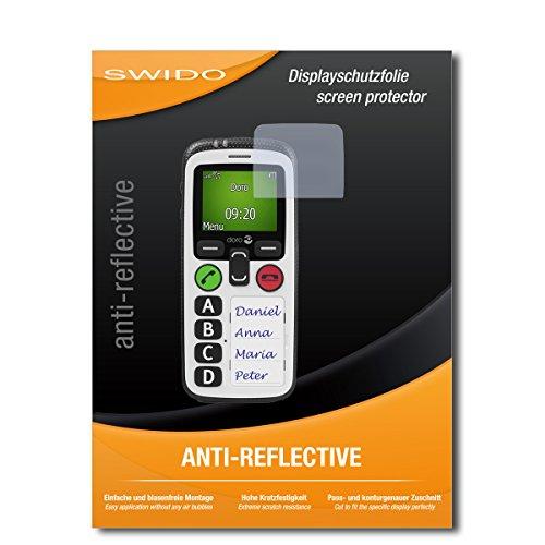 SWIDO Schutzfolie für Doro Secure 580 IP [2 Stück] Anti-Reflex MATT Entspiegelnd, Hoher Härtegrad, Schutz vor Kratzer/Displayschutz, Displayschutzfolie, Panzerglas-Folie