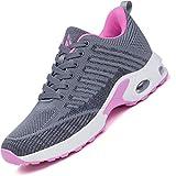 Mishansha Air Zapatos de Deportes Mujer Ligeros Zapatillas de Correr Femenino Respirable Calzado Fitness Jogging Sneakers Gris A, Gr.40 EU