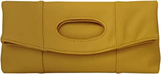 JNB Synthetic Leather Fold Over Clutch