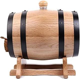 LLYYC オークエージングバレル、1.5L スタンド付き 熟成ウイスキー用オーク樽 パーソナライズ ウイスキーバレルディスペンサー 高級ワイン、ブランデー、テキーラ、ラムポート用,A