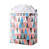 Extra Large Rectangular Laundry Baskets,135L Fabric Storage Bin Storage Boxes,Collapsible Storage Basket for Toy, Clothes,Books.Shelves Basket (Triangle)