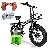 20 x 4.0 Pulgadas Bicicleta Montaña Adulto, 750W Motor 48V 15AH Litio-Ion Batería Extraíble - Accesorios para Bici Electrica [EU Stock]