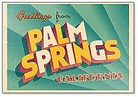 ビンテージ 観光イラスト パームスプリングス カリフォルニア 冷蔵庫マグネット