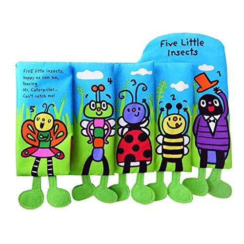 Schimer Baby Spielzeug Entdeckungsbuch aus Stoff Baby Buch Anhänger zur Stärkung der Eltern-Kind-Beziehung - AB 0 Monate
