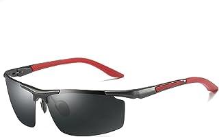 LUOMON Wrap-Around Sport Sunglasses for Men with 71mm Semi Rimless Lens Polarized Sun Glasses LM003