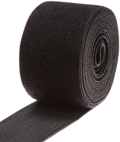 "VELCRO 1806-OW-PB/B Black Nylon Onewrap Velcro Strap, Hook and Loop, 2"" Wide, 10' Length"