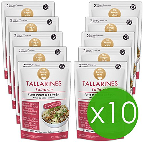 The Konjac Shop - Tallarines Shirataki, 10 unidades
