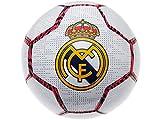 Balón oficial del Real Madrid – Talla 5 – Adulto – Blanco con detalles de cebra rosa/negro