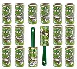 remake 95% Plástico Reciclado. Quitapelusas (16 Rodillos + 2 Mangos). Rodillo Quitapelos Mascotas. Hojas Extra Adhesivas. Rollo Adecuado para Polvo, Ropa, Pelusas. Made in Italy