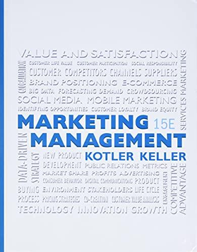 MARKETING MGMT REV/E 15/E (Marketing Management)