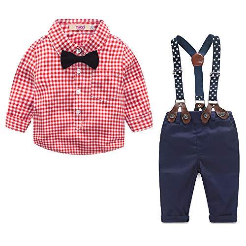 Tenue Bebe Garcon Vetements Été pour Mariage Ensemble Bambin Costume Enfant Chemise + Pantalons +...