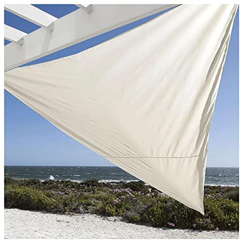 Toldo Vela de Sombra Triangular 3x3x3 Metro ProteccióN Solar Resistente a Los Rayos UV para JardíN para Terraza, Patio Trasero, JardíN, Actividades al(Size:3.6*3.6*3.6m(11.8*11.8*11.8ft),Color:blanco)