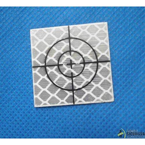 StickersLab-cibles réfléchissantes réfléchissants Adhésifs 30/40 mm avec croix de visée 20 Pièces-40 mm x 40 mm
