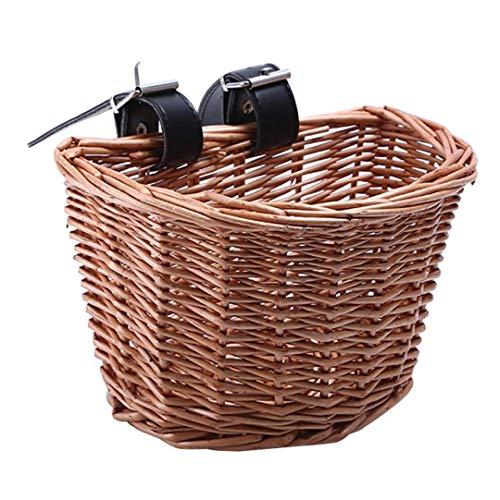 accesorios de ratán bicicletas cesta delantera de la bicicleta cesta extraíble impermeable multifunción manillar de la bici cesta pequeño jardín