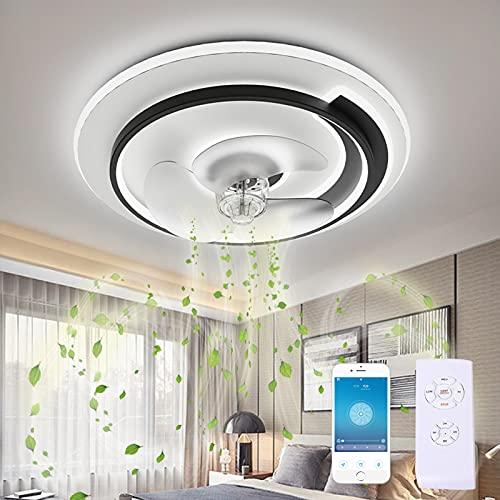 GJXJY Ventilador de Techo con Luz y Mando Silencioso 19.7in Regulable 65W Lampara Ventilador de Techo con Temporizador 3 Velocidades Ventilador Techo