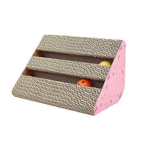 Homeng krasplank voor huisdier kittens kat krasballen speelgoed, kat bank klauwen slijpen board, Harden gegolfd papier huisdier kat speelgoed, Medium, A1